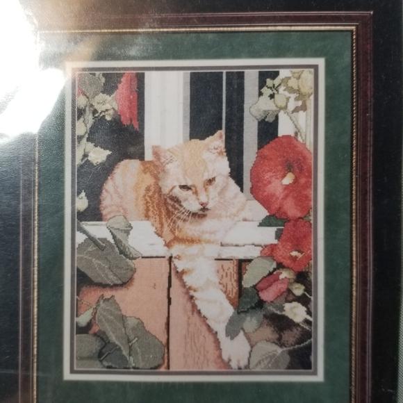Kit Cross Stitch Orange Cat